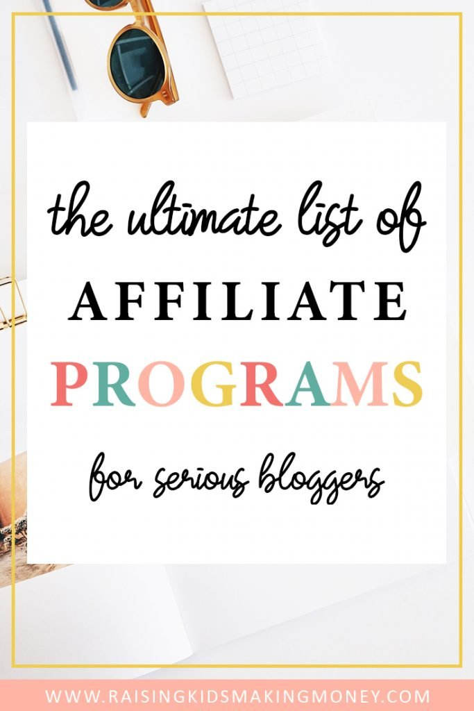 Text about affiliate programs for bloggers