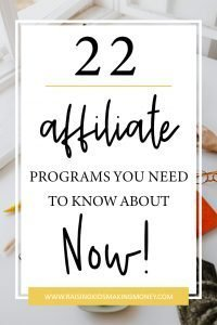 Text about 22 affiliate programs to join