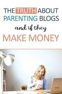Pinterest image about if parenting blogs make money