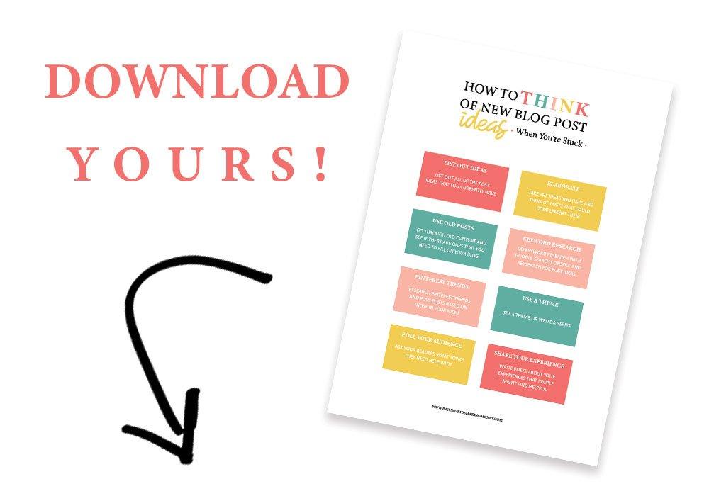Blog post ideas download