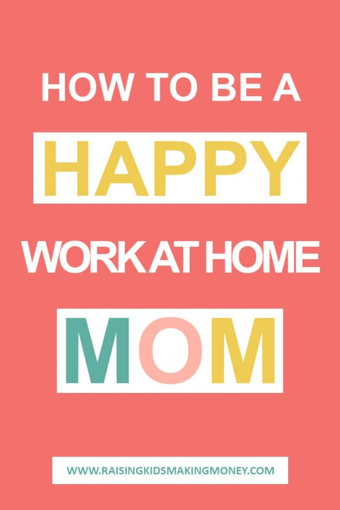 Text about being a happy work at home mom