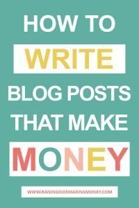 Text about making money writing blog posts