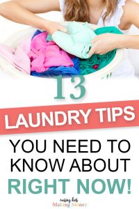 Pinterest image about the best laundry tips