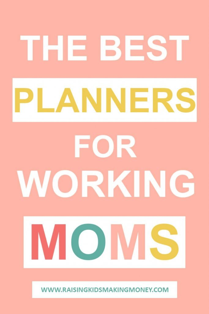 Infographic about the best planners for working moms