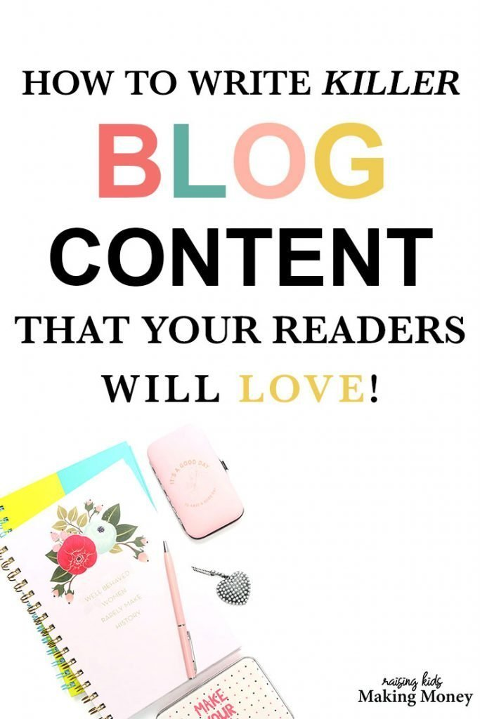 Pinterest image about how to write great blog content