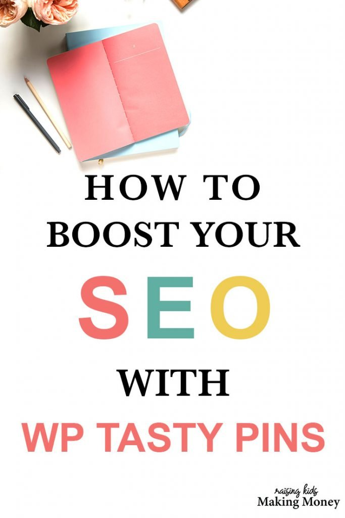 Pinterest image about boosting your seo with wp tasty pins
