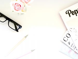 stationary items and reading glasses