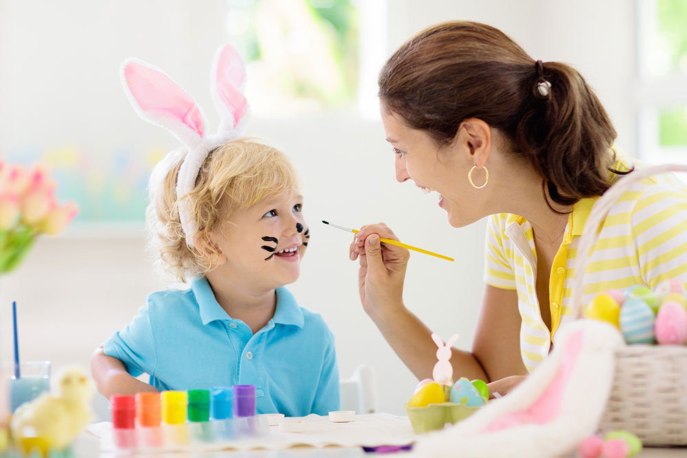mom painting child's face