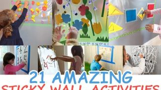 21 AMAZING STICKY WALL ACTIVITIES