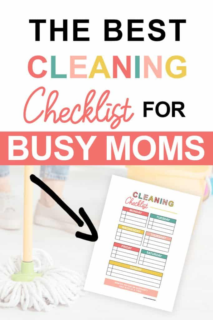 Pinterest image about the best cleaning checklist