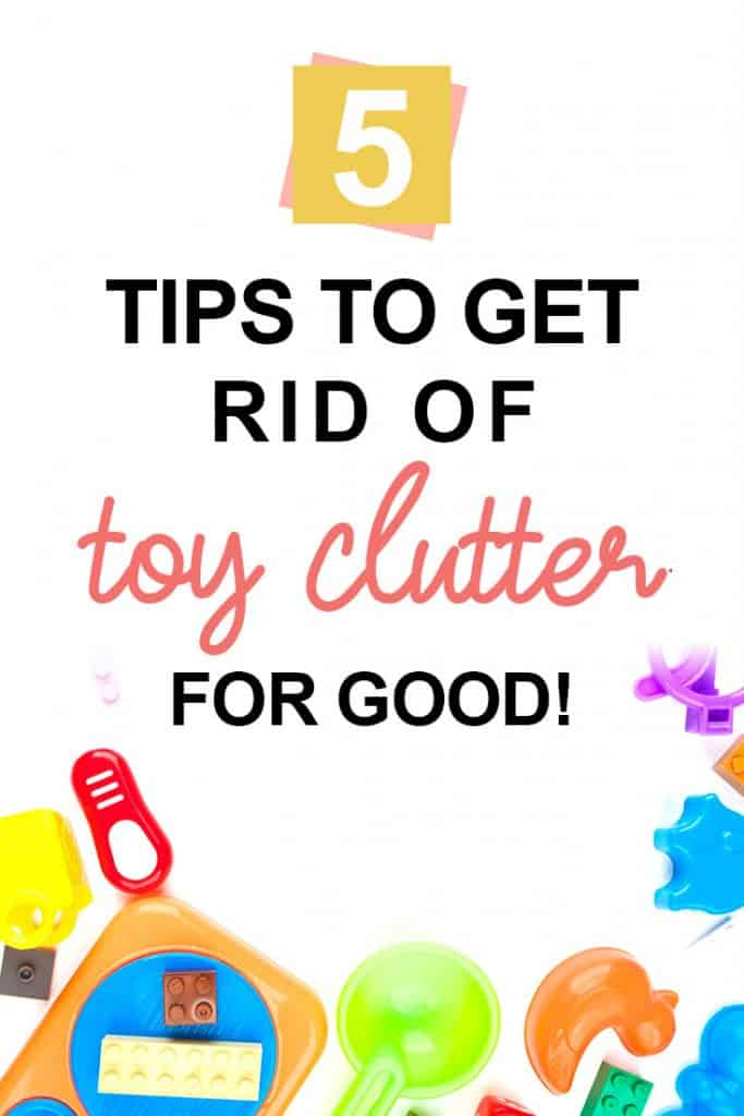 Pinterest image about toy clutter