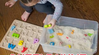 Puzzle Hunt Sensory Bin - Busy Toddler