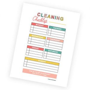 basic cleaning checklist