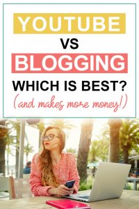 Pinterest image about Youtube vs Blogging