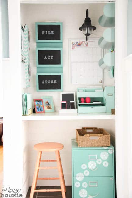 Command Central Station {Getting Organized with a Command Center in a Closet}