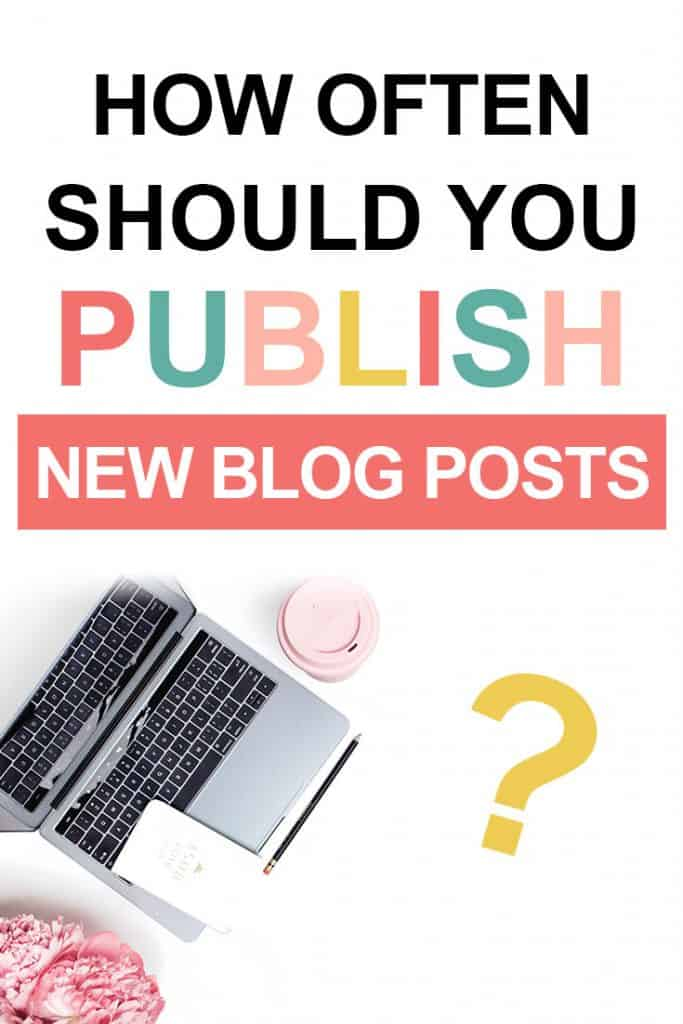 Pinterest image about how often should you publish new blog posts