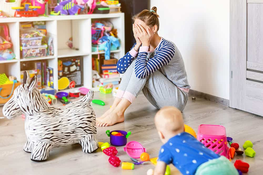 mom overwhelmed by the mess