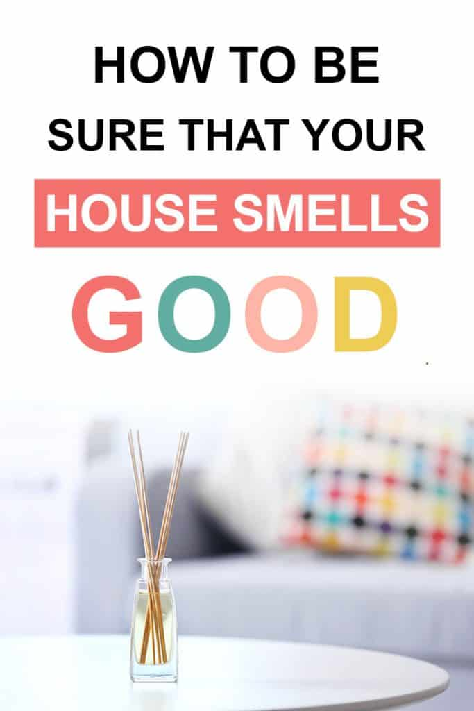 Pinterest image about how to make your house smell good