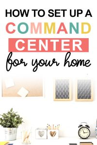 Pinterest image about how to set up a command center