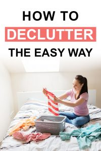 Pinterest image about things to declutter