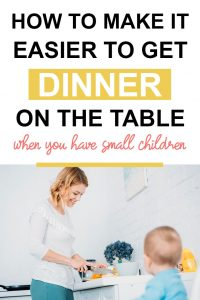 Pinterest image about how to get dinner on the table
