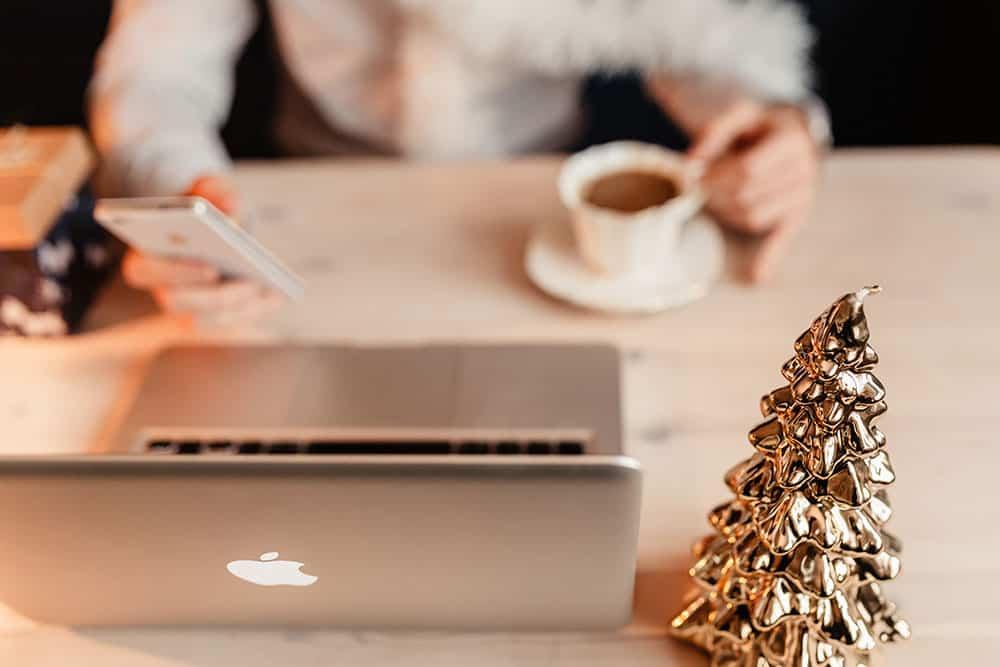 blogger enjoying christmas
