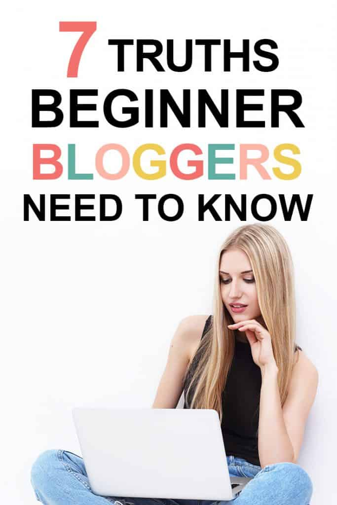 Pinterest image about blogging truths