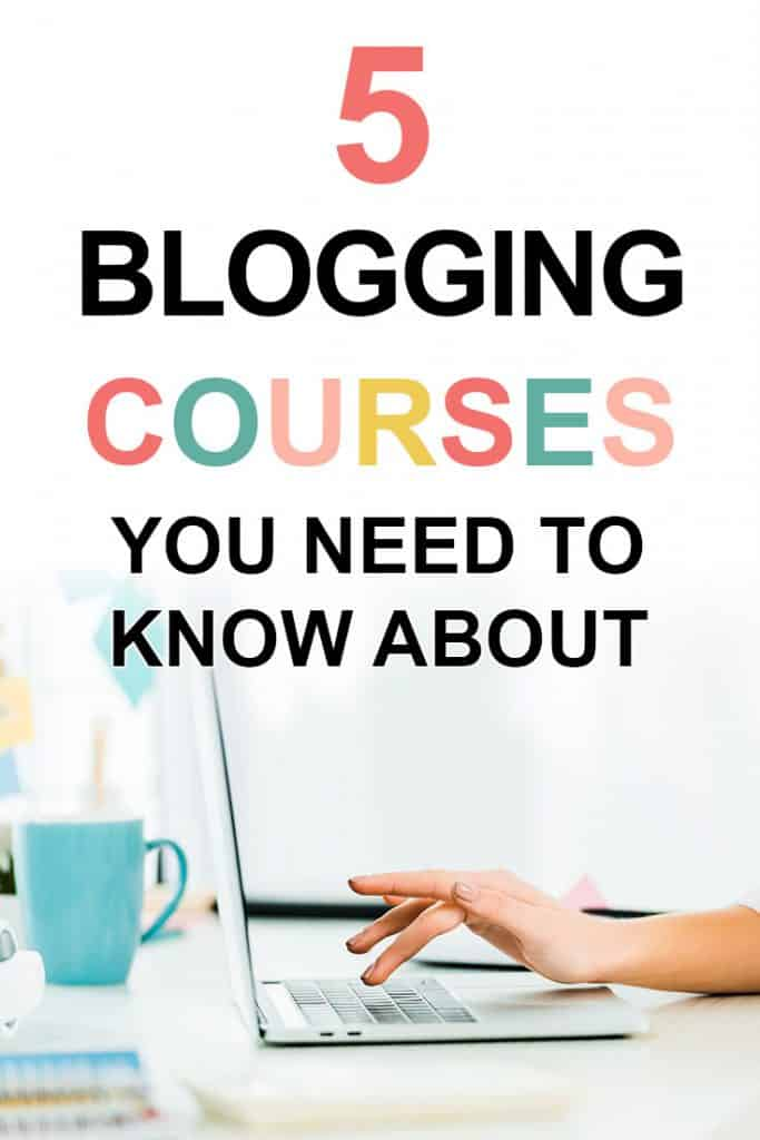 Pinterest image about the best blogging courses